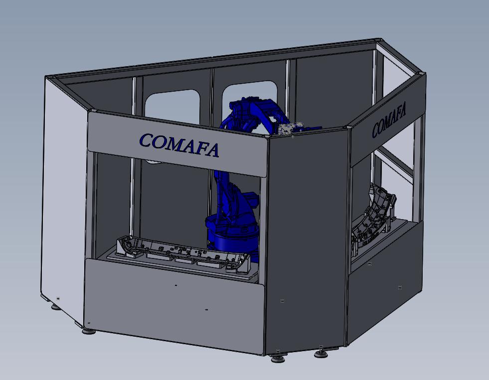八字形机器人超声波焊接机