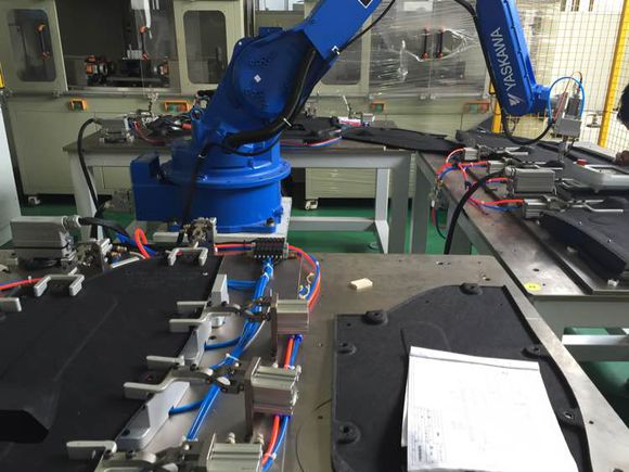汽车底护板机器人超声波焊接机