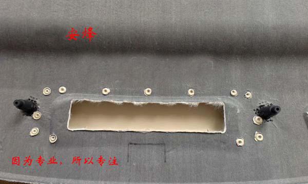 汽车后隔板塑料柱热熔铆点焊接
