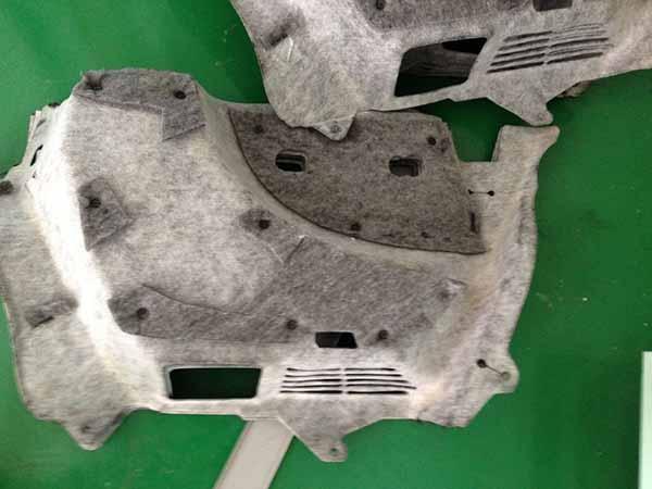 汽车行李箱隔音棉超声波焊接