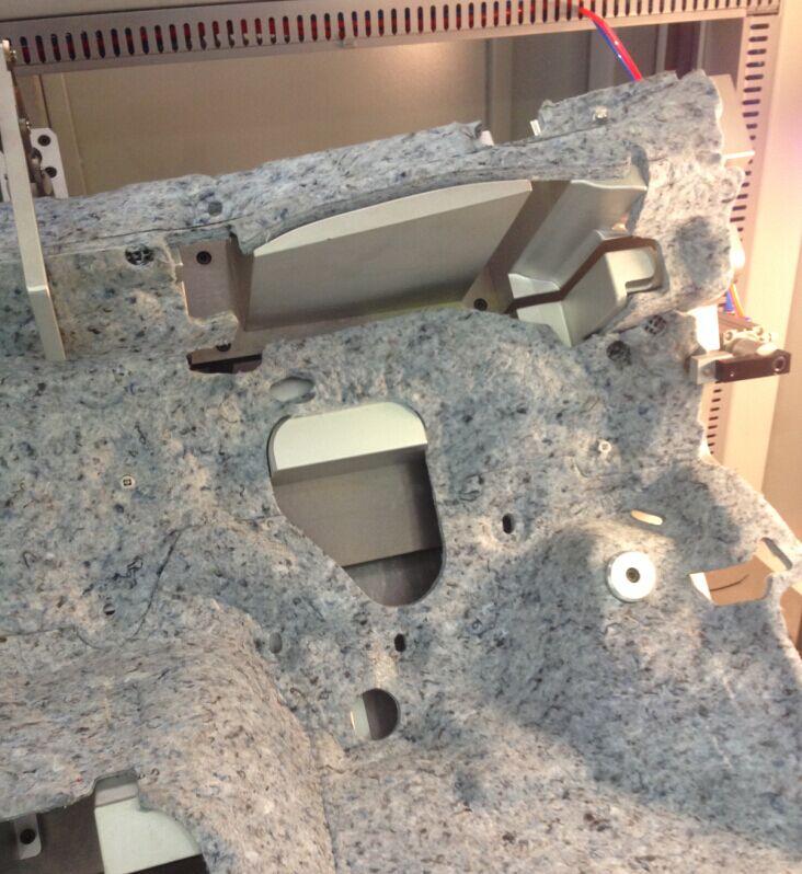汽车中控台隔音棉超声波焊接