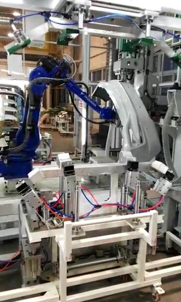 汽车保险杠机器人柔性冲孔