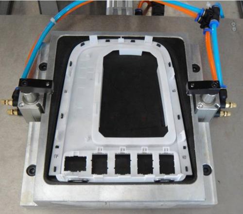 汽车档位板多点热熔铆点焊接