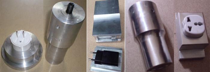 电源充电插头超声波焊接模具