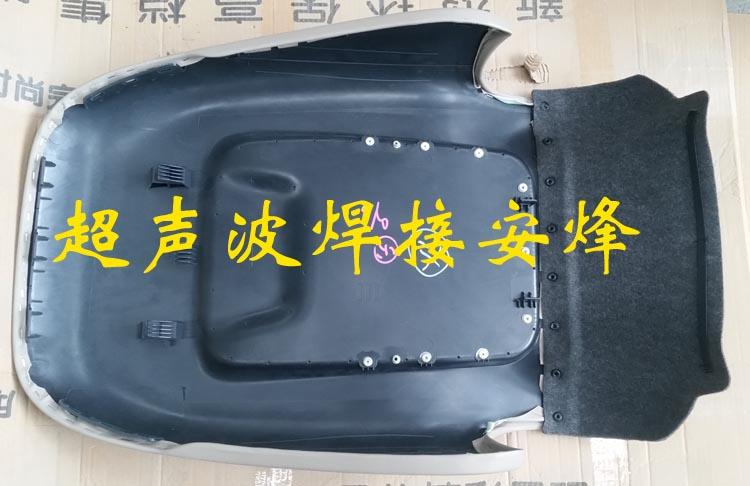 汽车座椅背饰毯与椅背网兜多点塑料柱热熔铆点焊接机