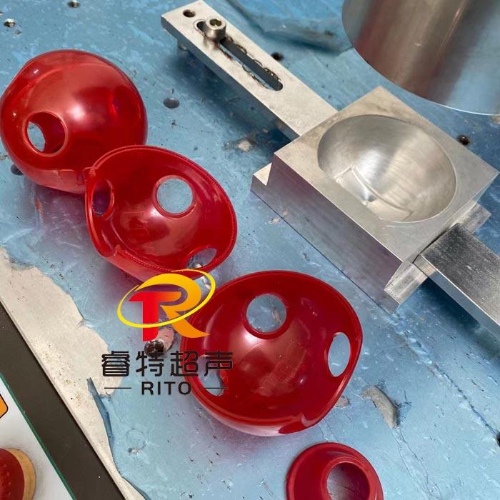 塑料曲面圆形外壳大功率超声波压合焊接机